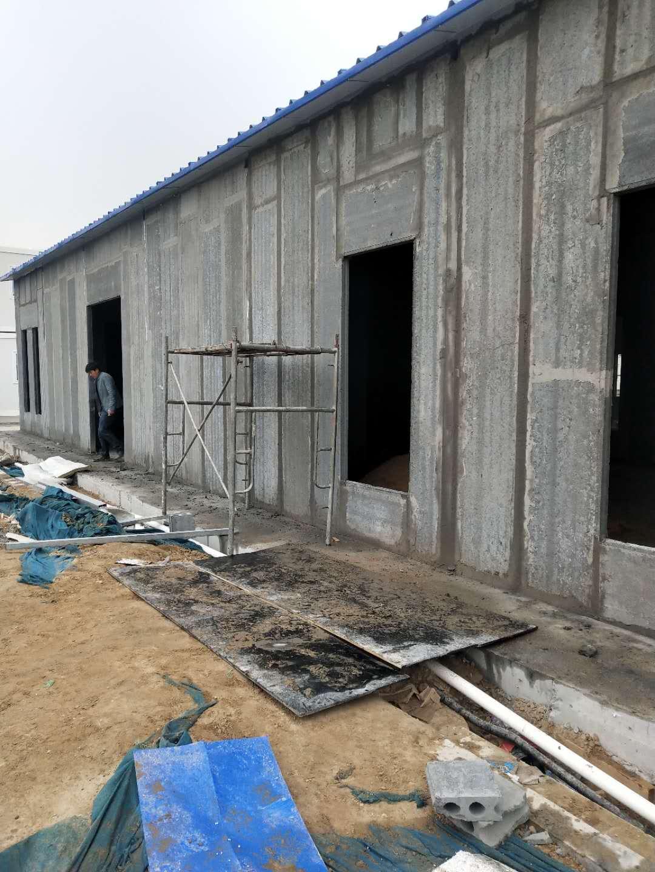 水泥防火隔墙板安装现场